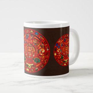 Mayan-style Sun Calendar Jumbo Tea or Coffee Mug