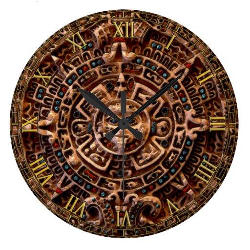 Mayan Sun Calendar Aztec Mexico History Clock Zazzle