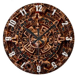 Mayan Sun Calendar Aztec Mexico History Clock