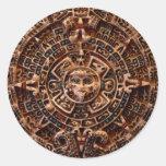 MAYAN Sun Calendar of Mexico Stickers