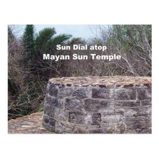 Mayan Sun Dial Postcard