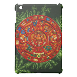 Mayan Sun Disk & Fractal Ancient Mexico iPad Case