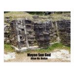 Mayan Sun God - Altun Ha, Belize Postcards