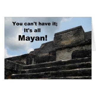 Mayan Sun God Temple; Belize Cards