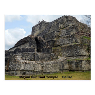 Mayan Sun God Temple Belize Post Cards