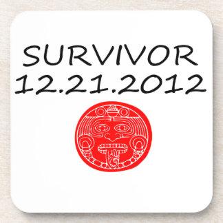 Mayan Survivor doomsday 12 21 2012 Beverage Coaster