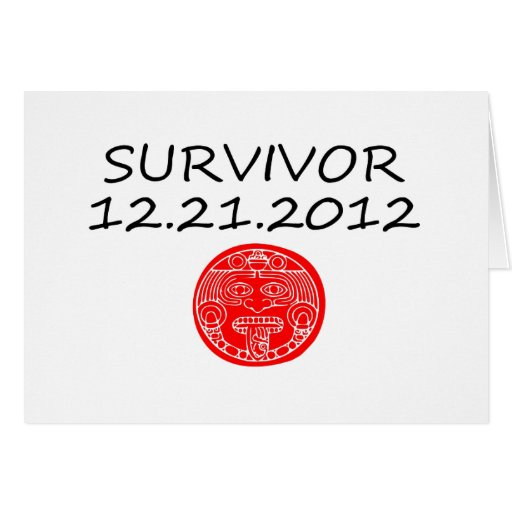 Mayan Survivor doomsday 12 21 2012 Card