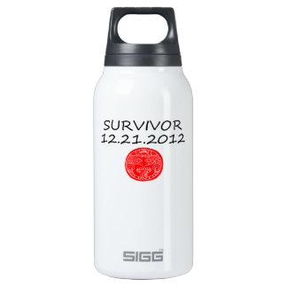 Mayan Survivor doomsday 12 21 2012 Insulated Water Bottle