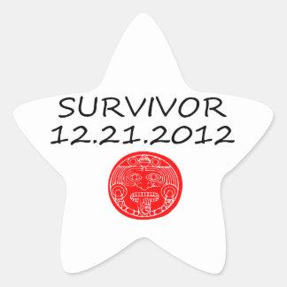 Mayan Survivor doomsday 12 21 2012 Star Sticker