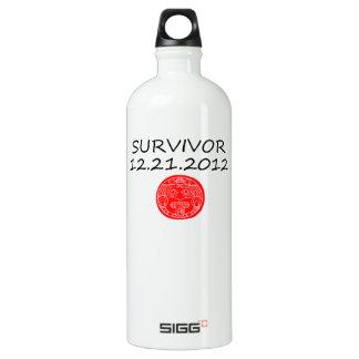 Mayan Survivor doomsday 12 21 2012 Water Bottle