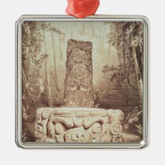 Mayan temple, Honduras Metal Ornament