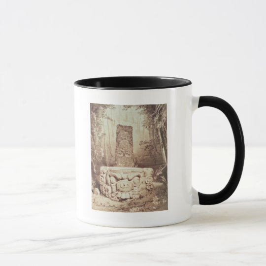 Mayan temple, Honduras Mug