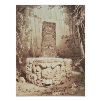 Mayan temple Honduras Poster