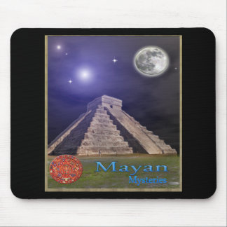 Mayan temple mouse pad