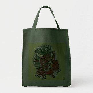 Mayan Tezcalipoca God Canvas Bags