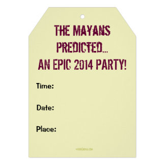 Mayan Themed KEEP CALM 2014 Party Invitation