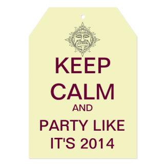 Mayan Themed KEEP CALM 2014 Party Invitation