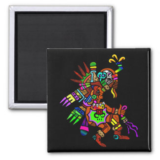 Mayan Trance Dance 2 Inch Square Magnet