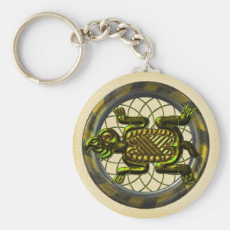 Mayan Turtle Key Chain