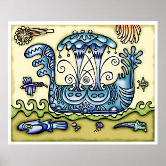 Mayan Viking Ship Posters