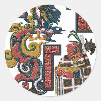 Mayan Vision Classic Round Sticker