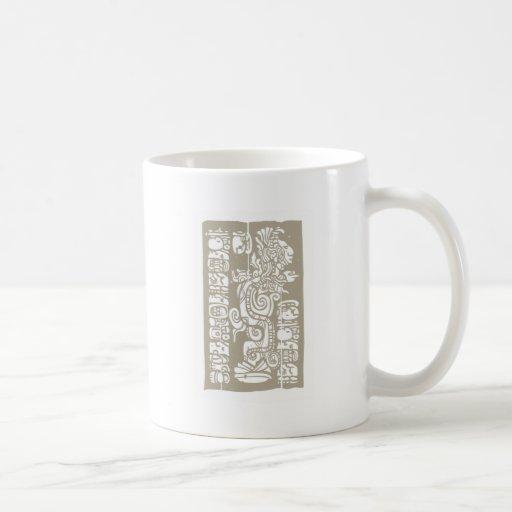Mayan Vision Serpent and Glyphs Coffee Mug