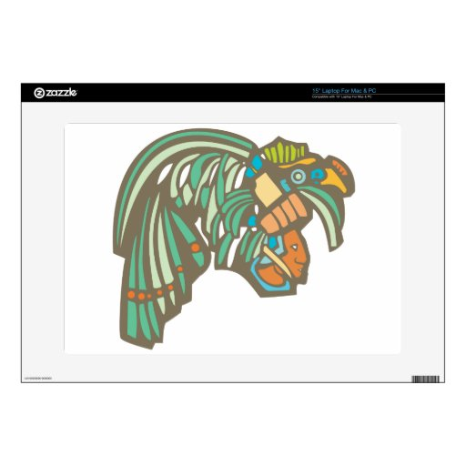 Mayan Warrior Head Decals For Laptops