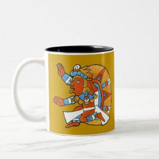 Mayan Warrior v.1 Two-Tone Coffee Mug