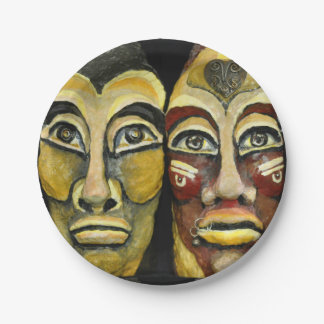 Mayan warriors - surrealism design paper plate