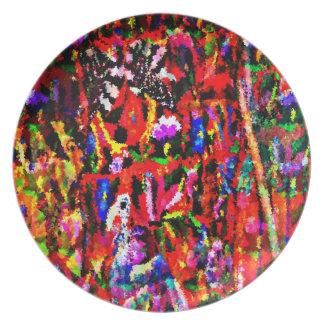 Mayan weaving designer plate