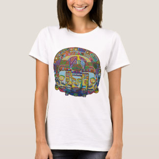 Mayan Wheel with MASK OF Death and Rebirth 2011 as T-Shirt