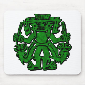 Mayan With Clubs Green Mouse Pad