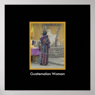 Mayan Woman in Panajachel Guatemala Poster