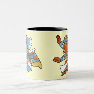 Mayan Woman & Warrior v.1 Two-Tone Coffee Mug