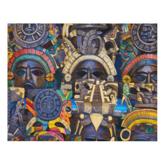 Mayan Wooden Masks for Sale Panel Wall Art