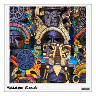 Mayan Wooden Masks for Sale Wall Sticker