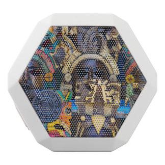 Mayan Wooden Masks for Sale White Bluetooth Speaker