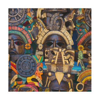 Mayan Wooden Masks for Sale Wood Wall Art