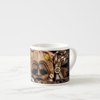 Mayan Wooden Masks in Mexico Espresso Cup