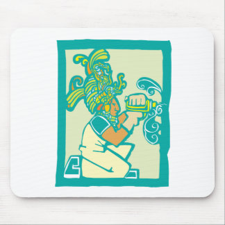 Mayan Workman with Drill Mouse Pad