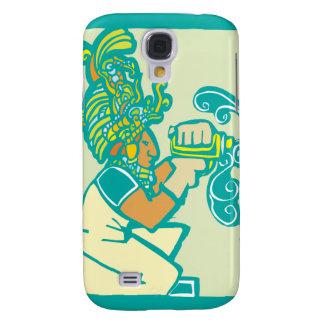 Mayan Workman with Drill Samsung Galaxy S4 Case