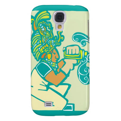 Mayan Workman with Drill Samsung Galaxy S4 Cases