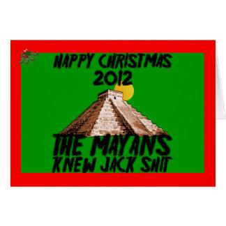 Mayans 2012 greeting card