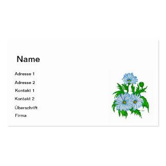 Mayas flores tarjetas de visita