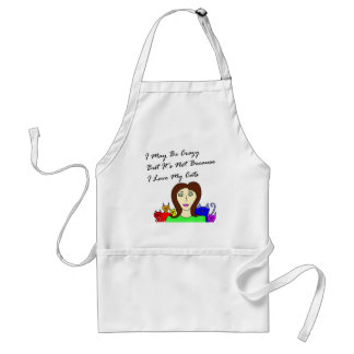 Maybe Crazy Cat Lady Adult Apron