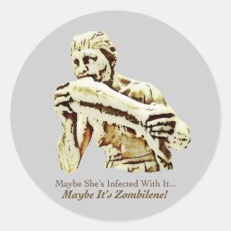 Maybe It's Zombilene! Menschenfresserin Classic Round Sticker