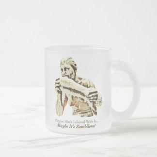 Maybe It's Zombilene! Menschenfresserin Frosted Glass Coffee Mug