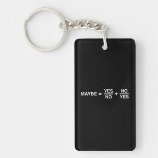 Maybe Math Single-Sided Rectangular Acrylic Keychain