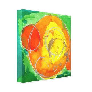 'Maybe the Sun, Maybe an Orange' 12 x 12 Canvas