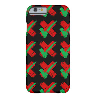 Maybe Tick and Cross Pattern Barely There iPhone 6 Case
